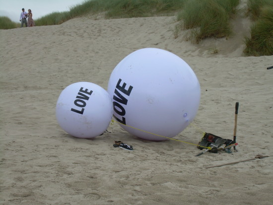 """Love Balls"" Manzanita Beach"
